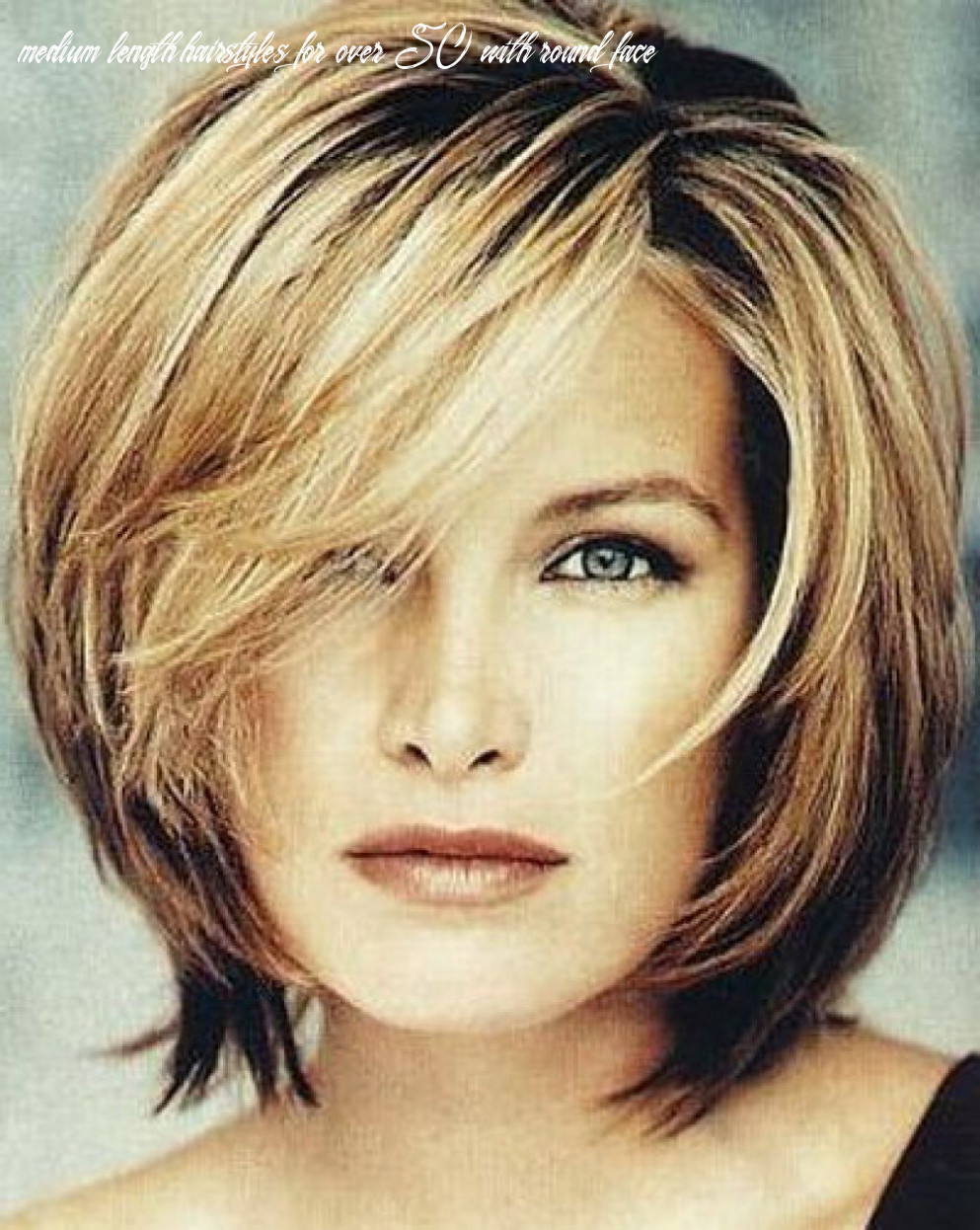 Pin on good haircuts medium length hairstyles for over 50 with round face