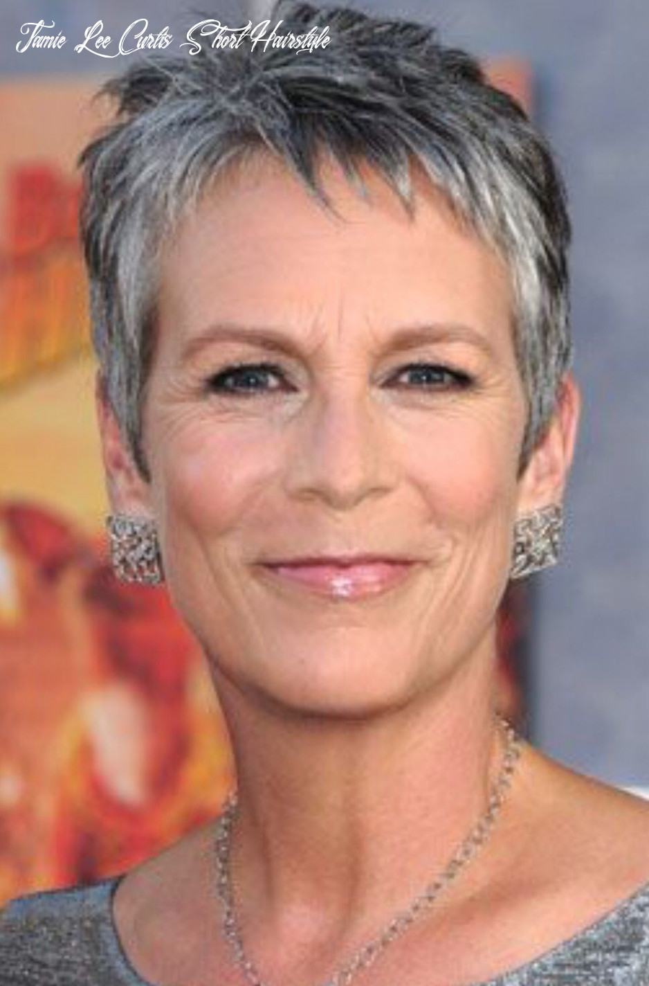 Pin on grey/silver hair jamie lee curtis short hairstyle