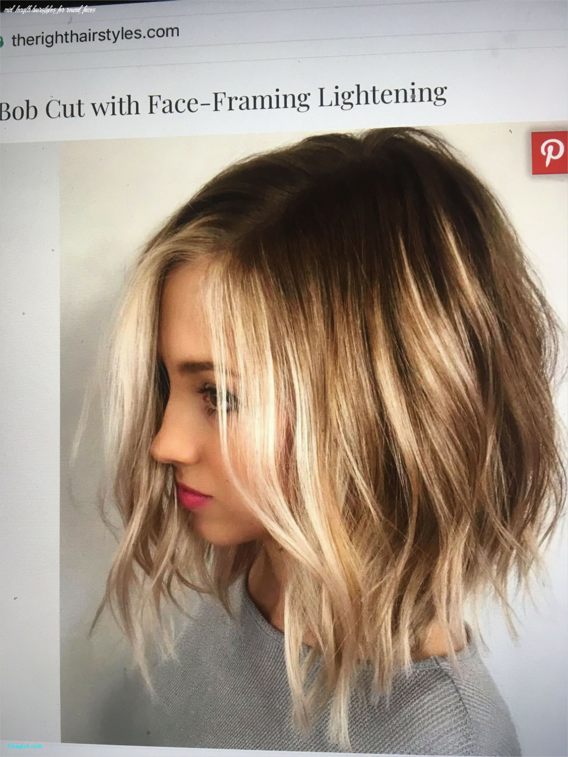 Pin on hair/accessories/nails mid length hairstyles for round faces