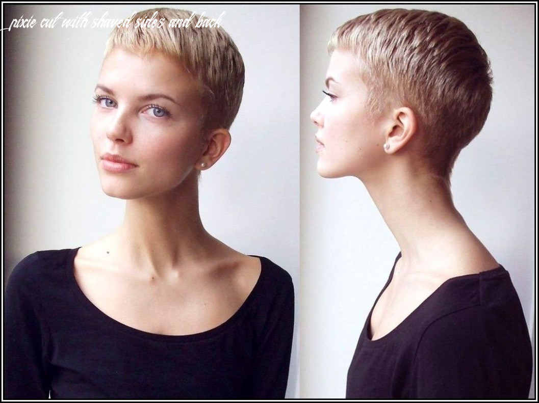 Pin on hair&makeup pixie cut with shaved sides and back