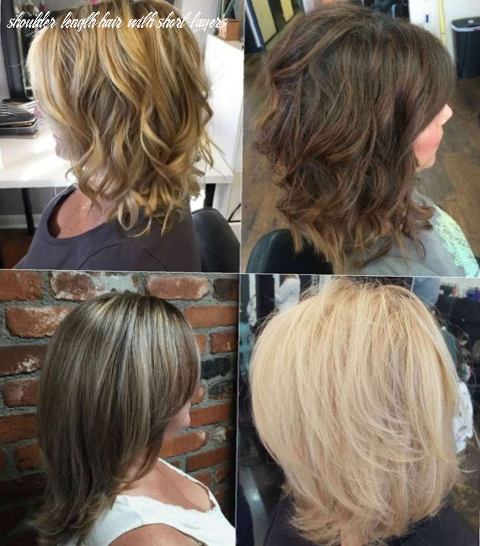 Pin on hair & stuff shoulder length hair with short layers