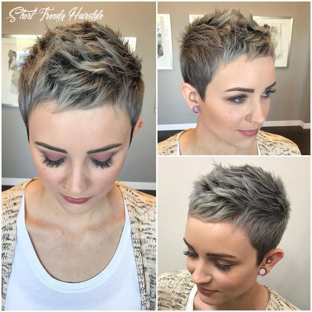 Pin on hair and a little beauty short trendy hairstyle