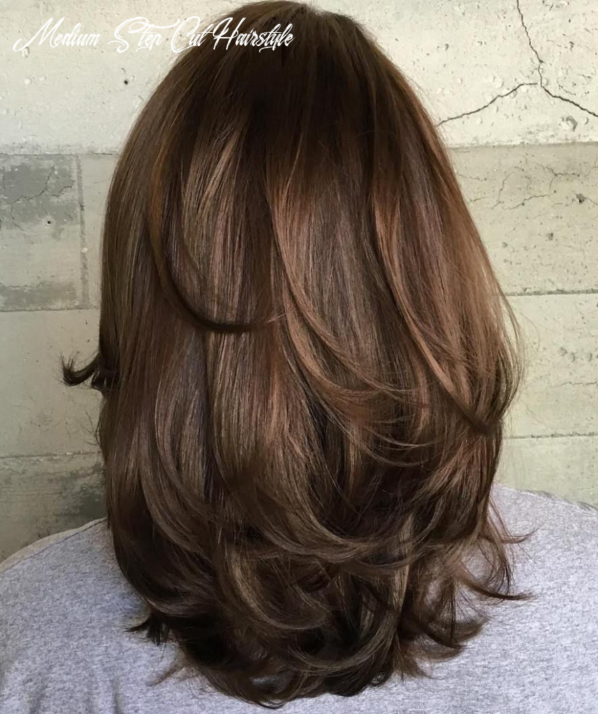 Pin on hair and beauty medium step cut hairstyle