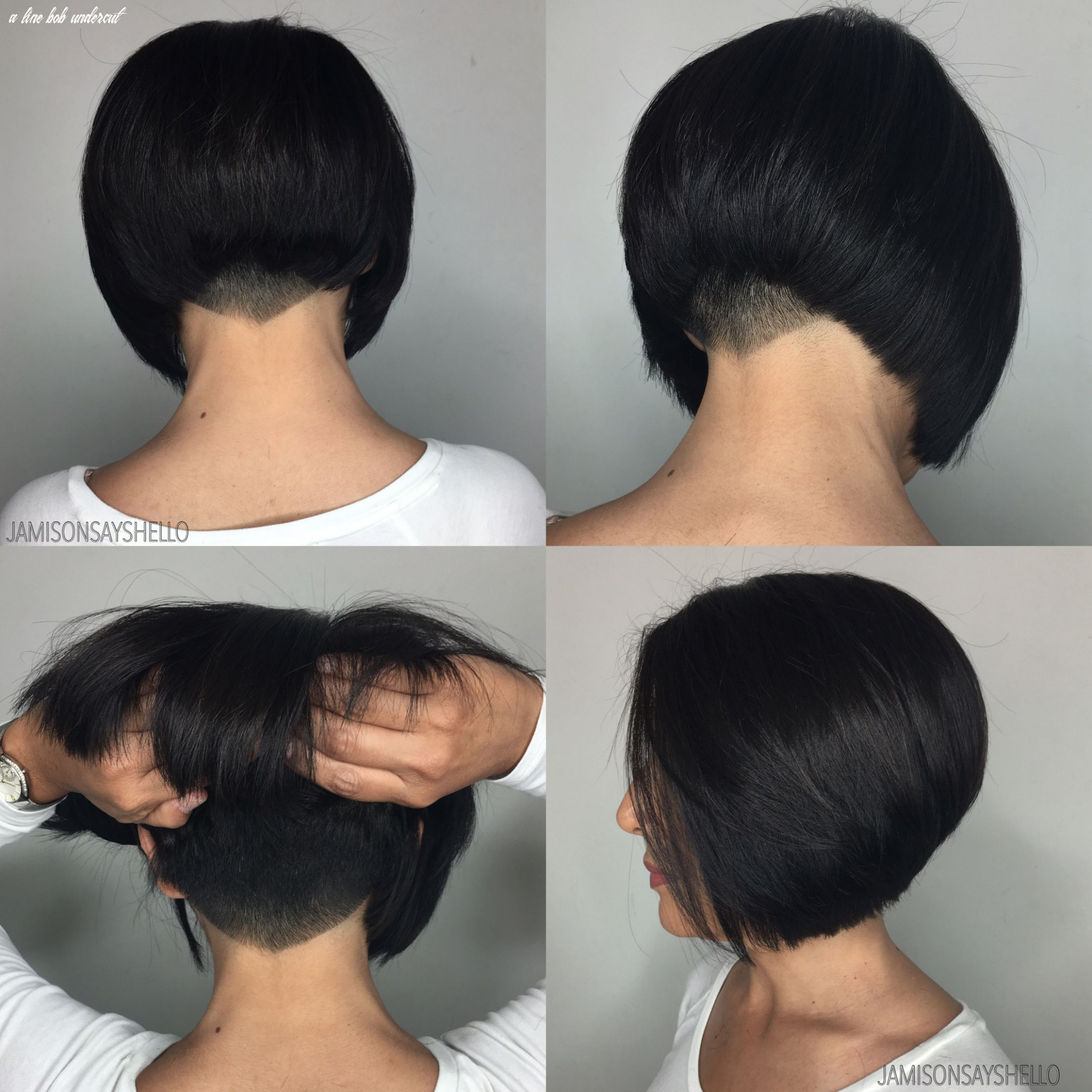 Pin on hair by jamison, owner of hair magic in chino hills, ca a line bob undercut