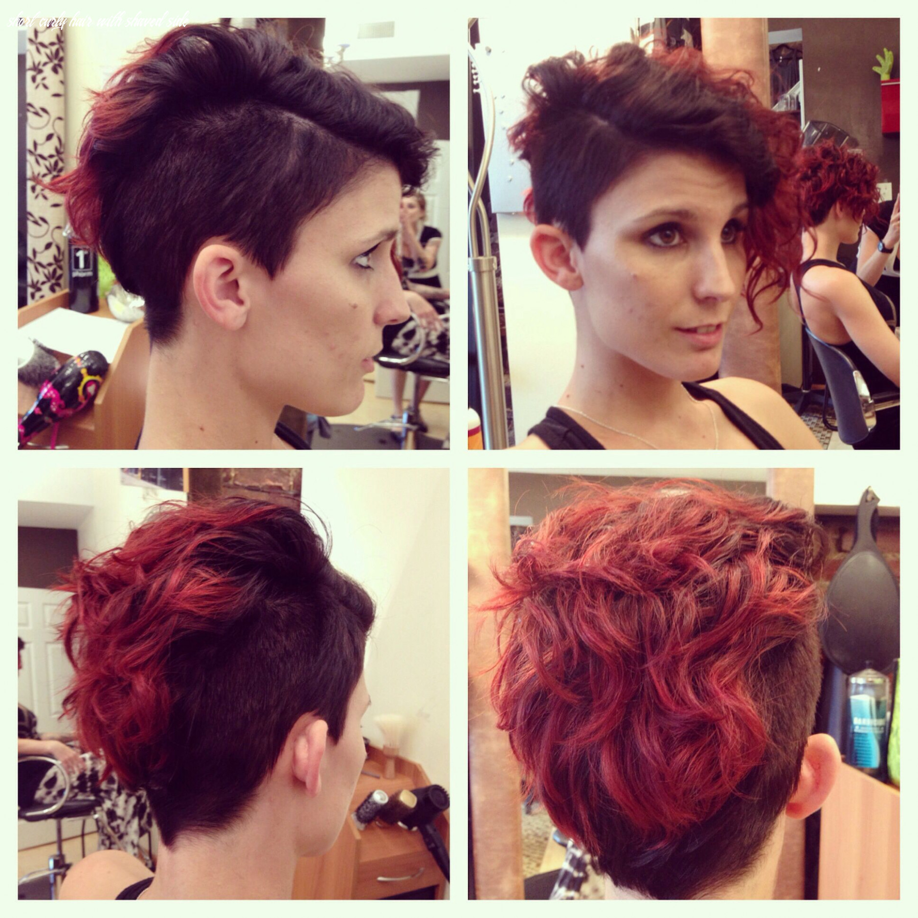 Pin on hair by me short curly hair with shaved side