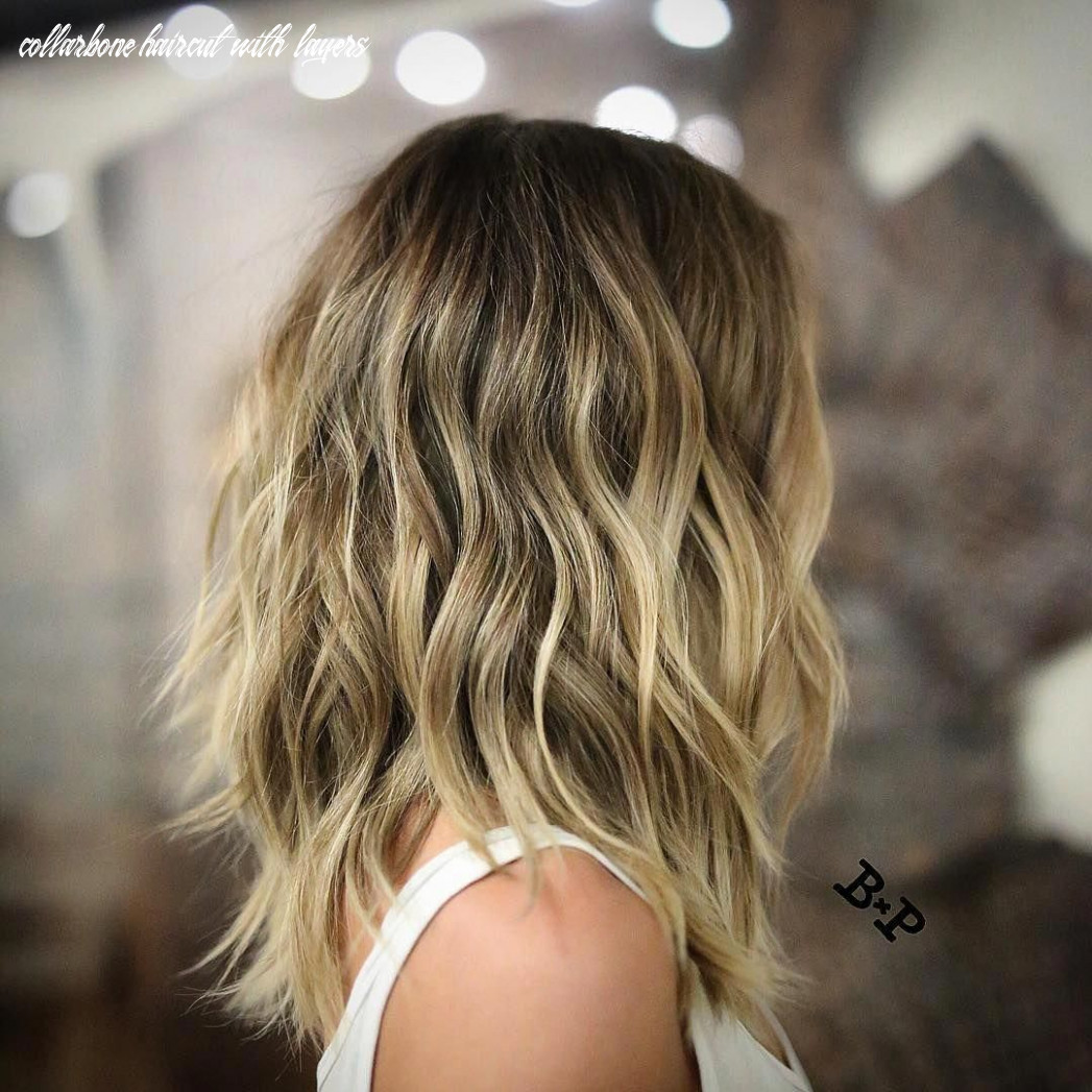 Pin on hair collarbone haircut with layers