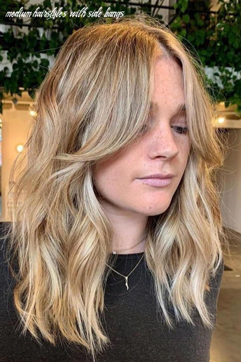 Pin on hair color and cuts medium hairstyles with side bangs