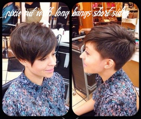 Pin on hair cut pixie cut with long bangs short sides