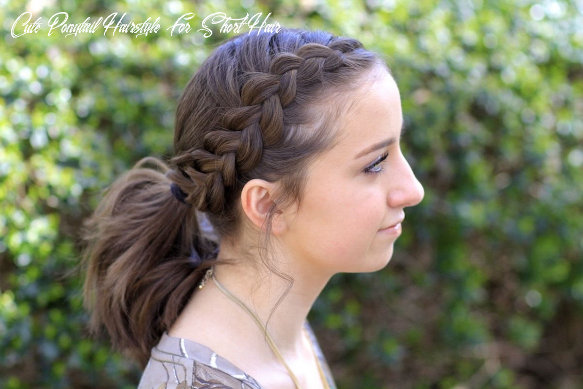 Pin on hair cute ponytail hairstyle for short hair