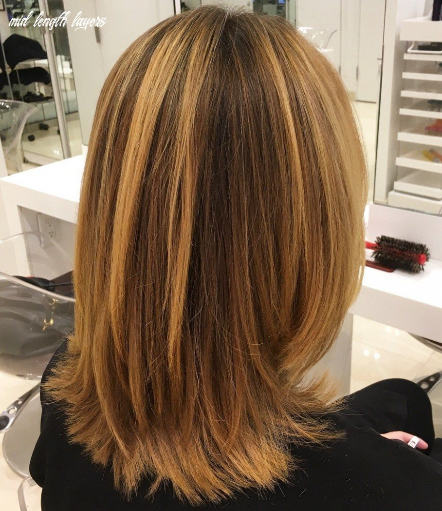 Pin on hair cuts mid length layers