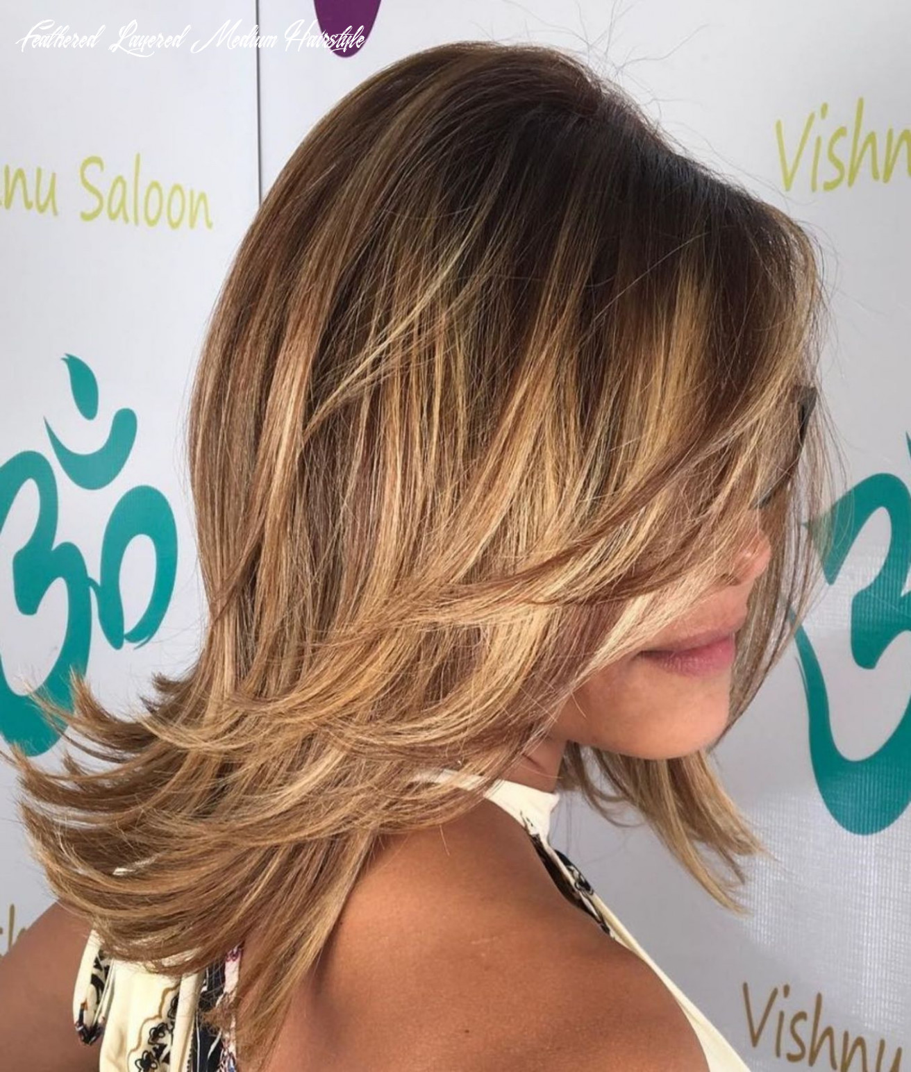 Pin on hair feathered layered medium hairstyle