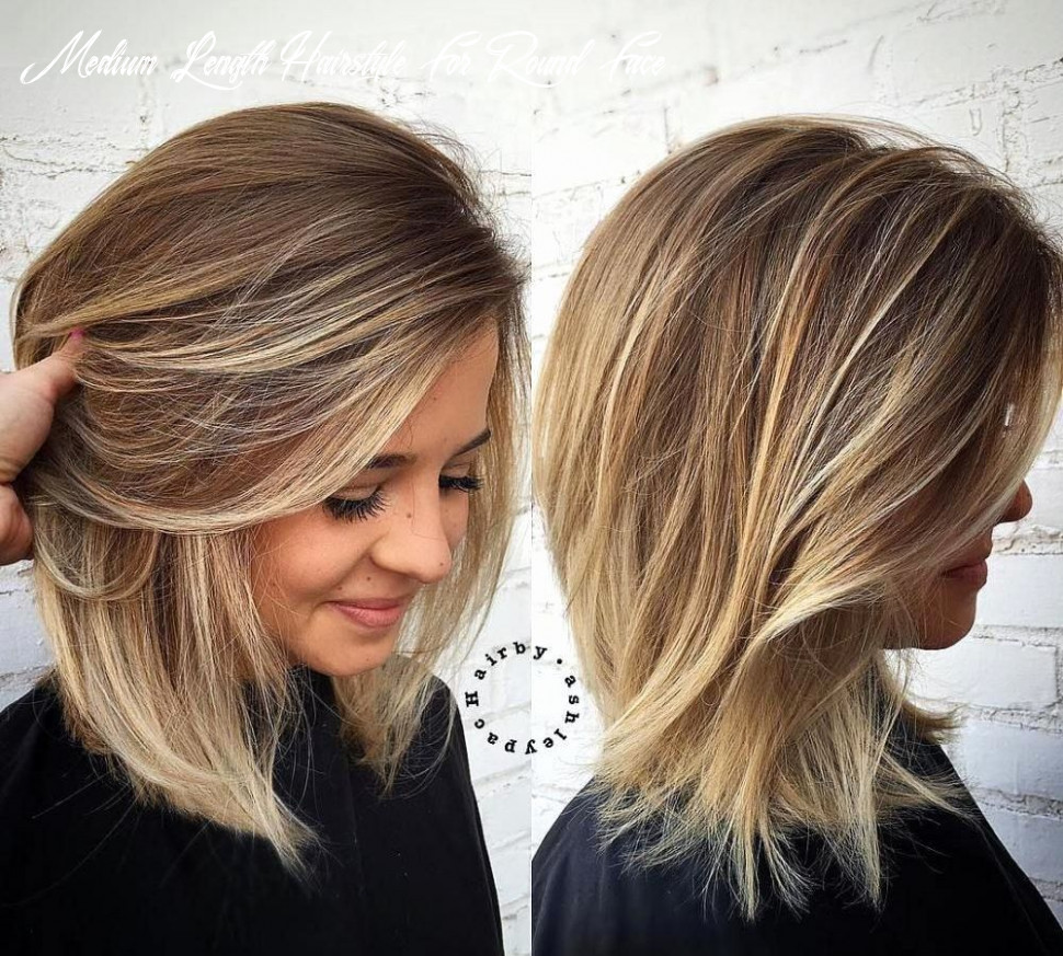 Pin on hair goals medium length hairstyle for round face
