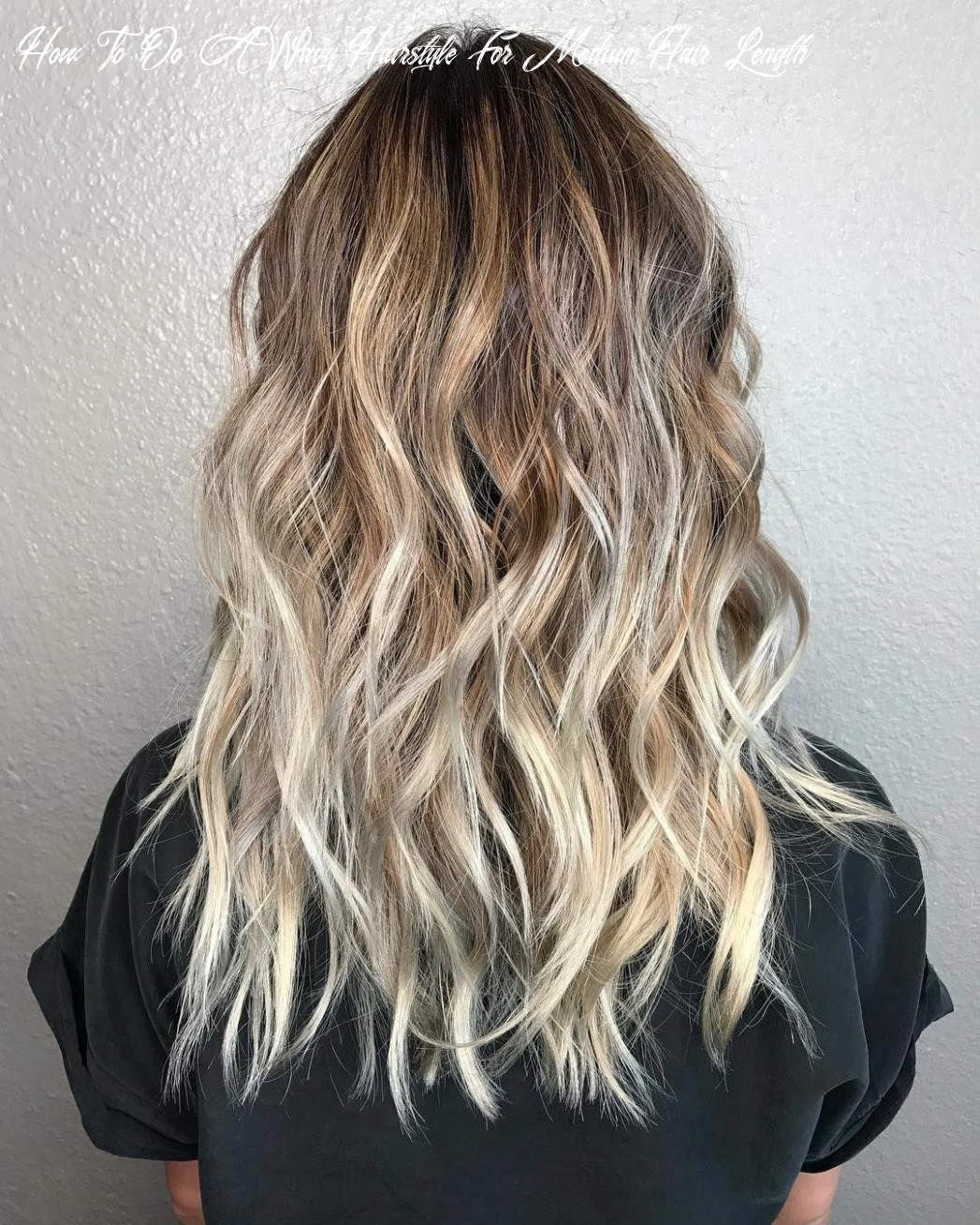 Pin on hair how to do a wavy hairstyle for medium hair length