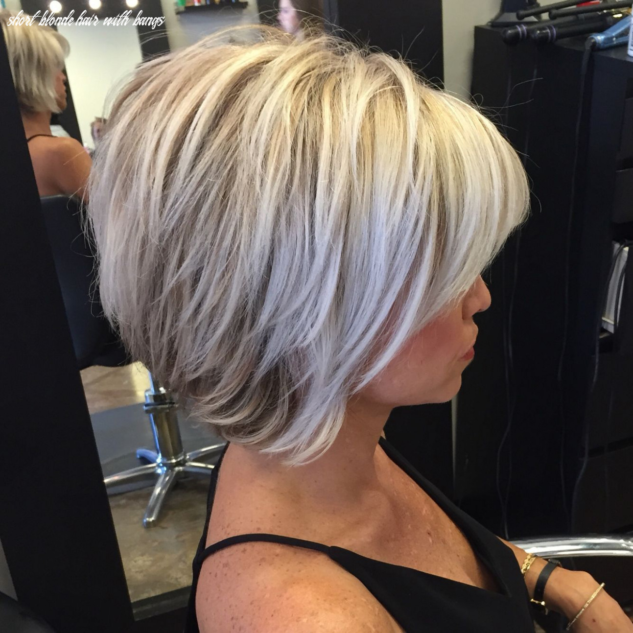 Pin on hair ideas short blonde hair with bangs