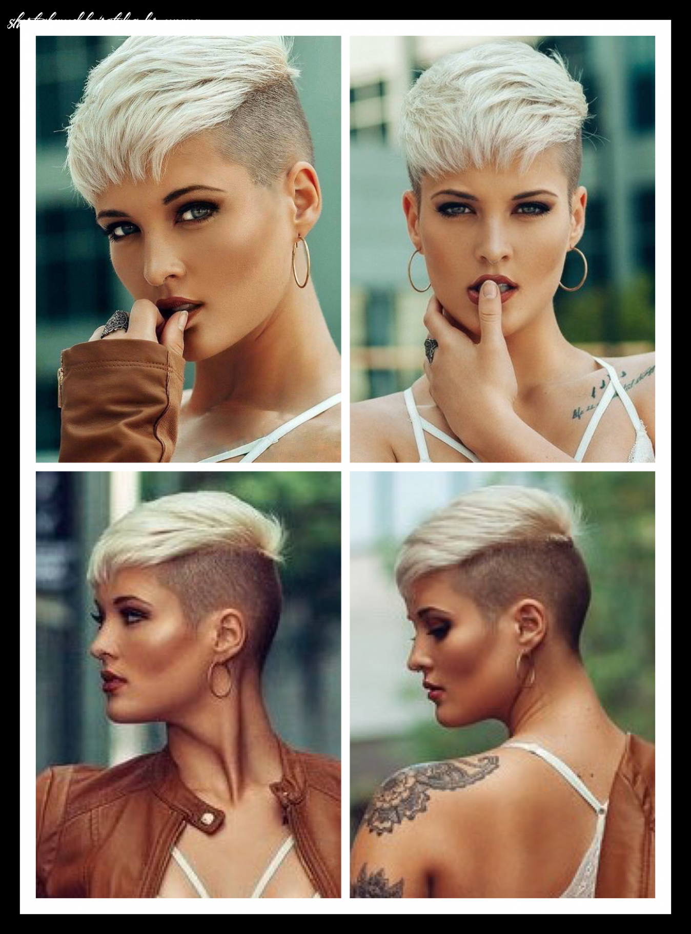 Pin on hair ideas short shaved hairstyles for women