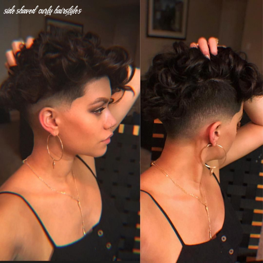 Pin on hair inspiration and ideas side shaved curly hairstyles