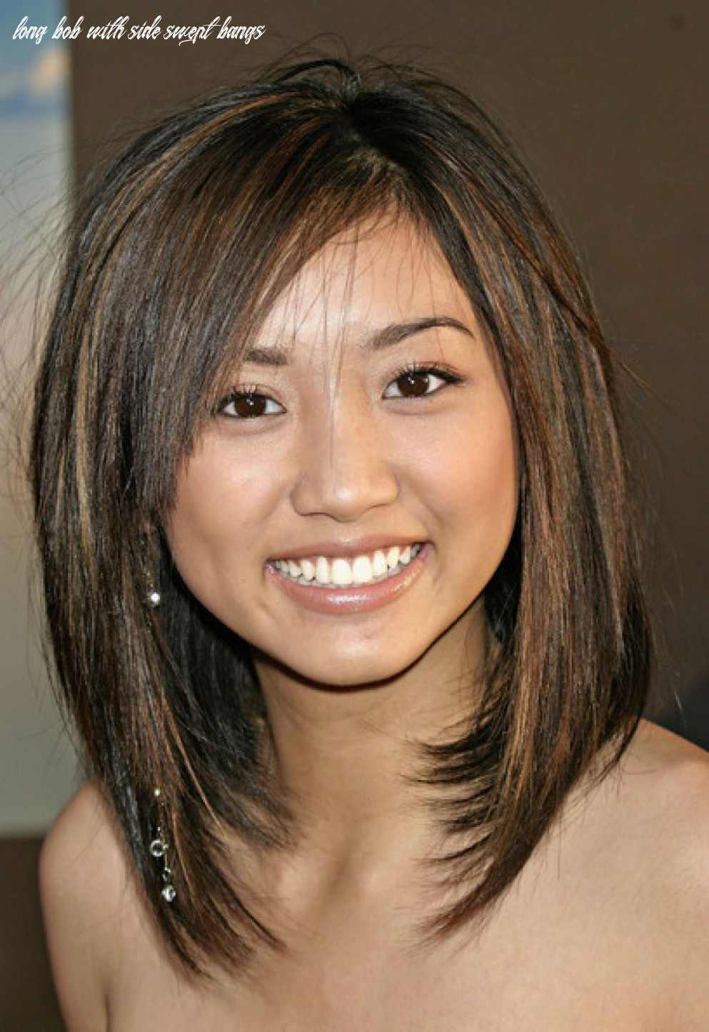 Pin on hair long bob with side swept bangs