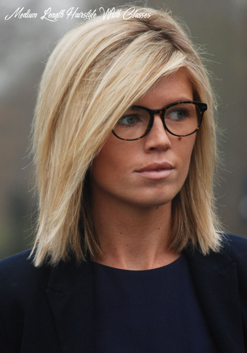 Pin on hair/make up medium length hairstyle with glasses