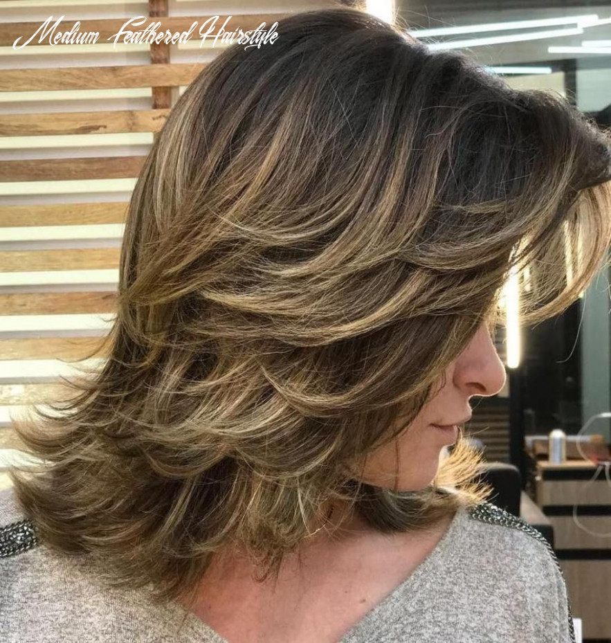 Pin on hair medium feathered hairstyle