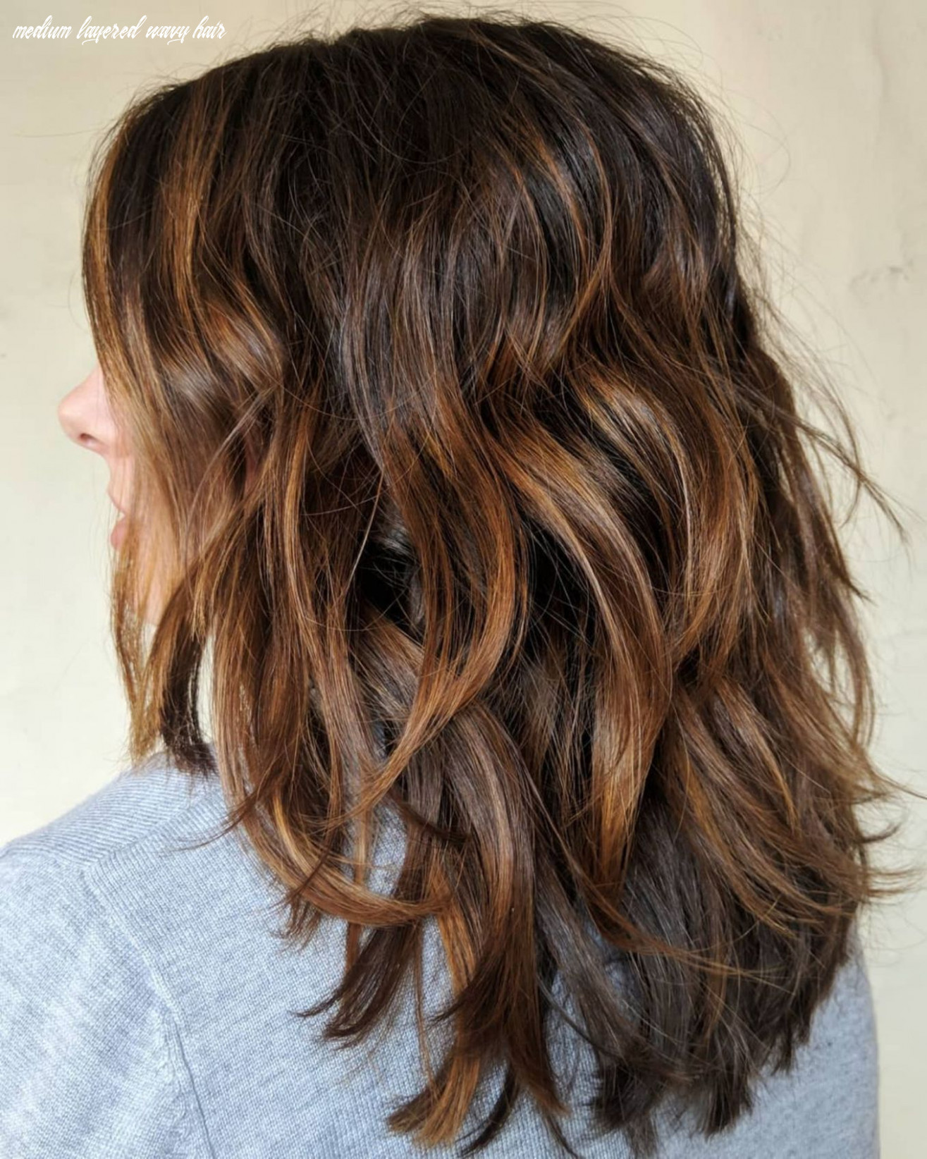 Pin on hair medium layered wavy hair