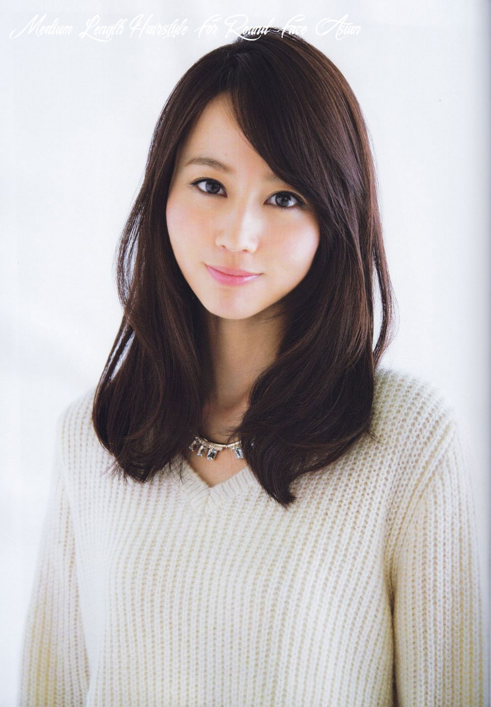 Pin on hair medium length hairstyle for round face asian