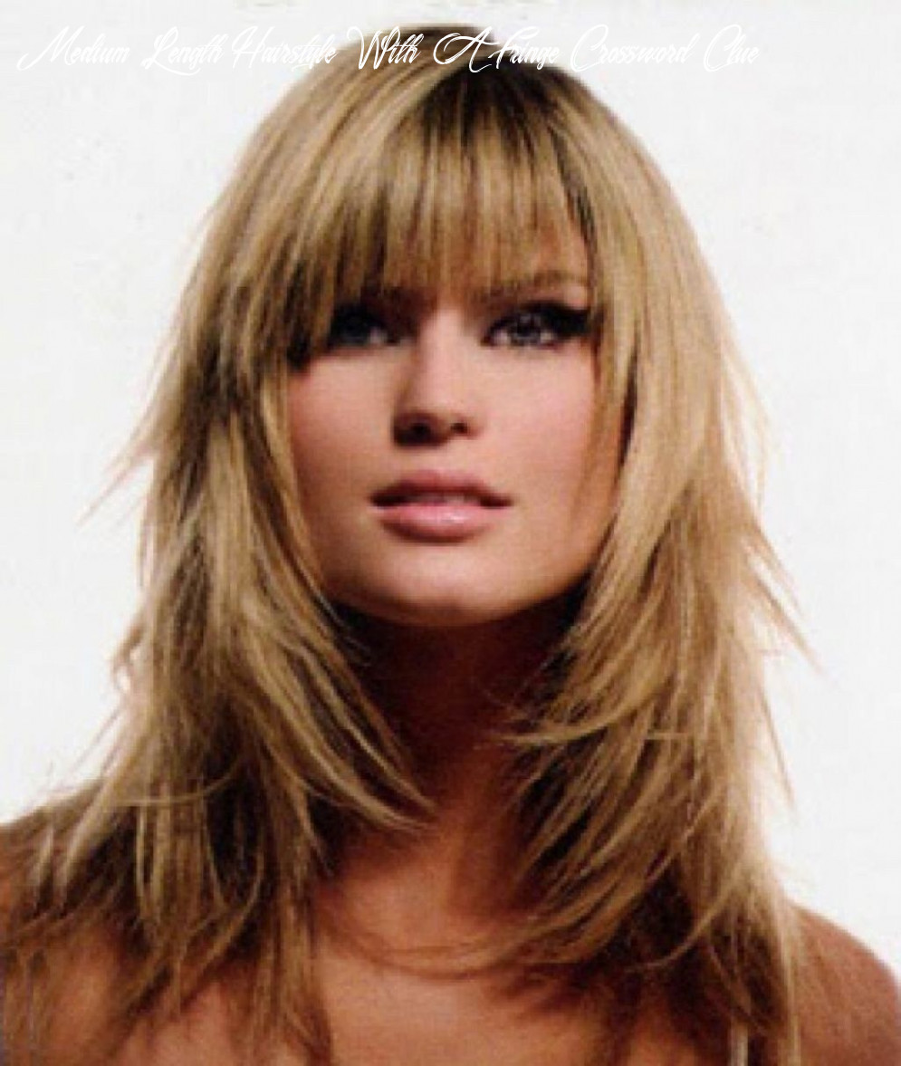 Pin on hair medium length hairstyle with a fringe crossword clue