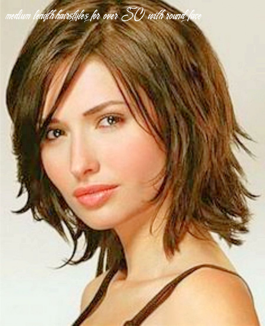 Pin on hair medium length hairstyles for over 50 with round face