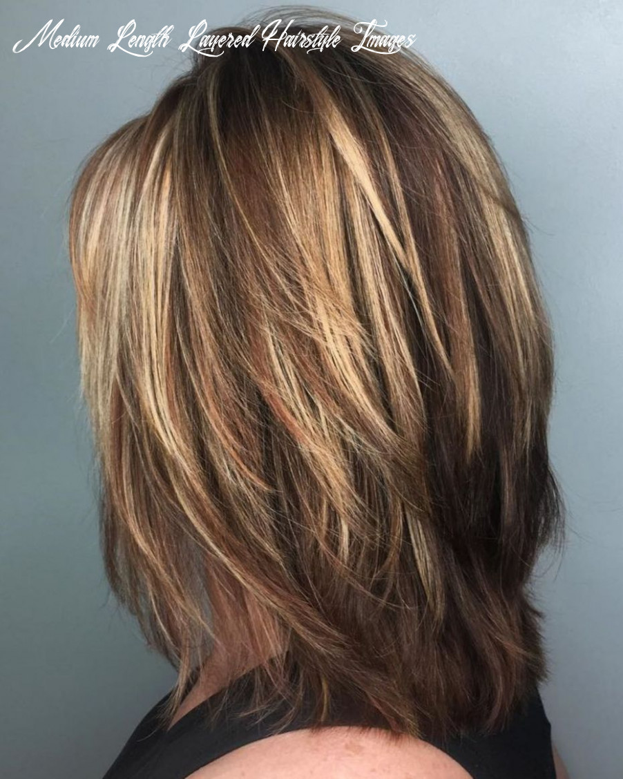 Pin on hair medium length layered hairstyle images