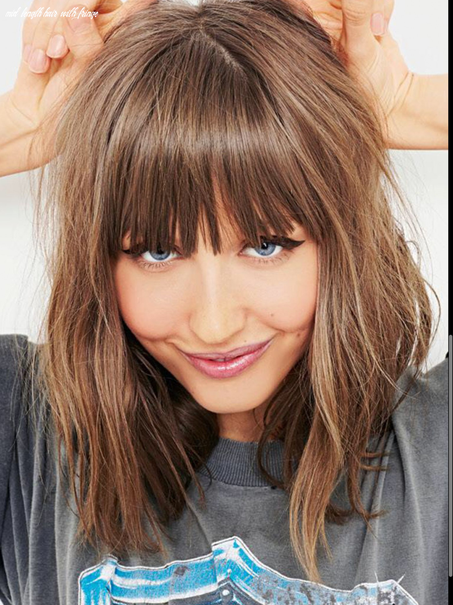 Pin on hair mid length hair with fringe
