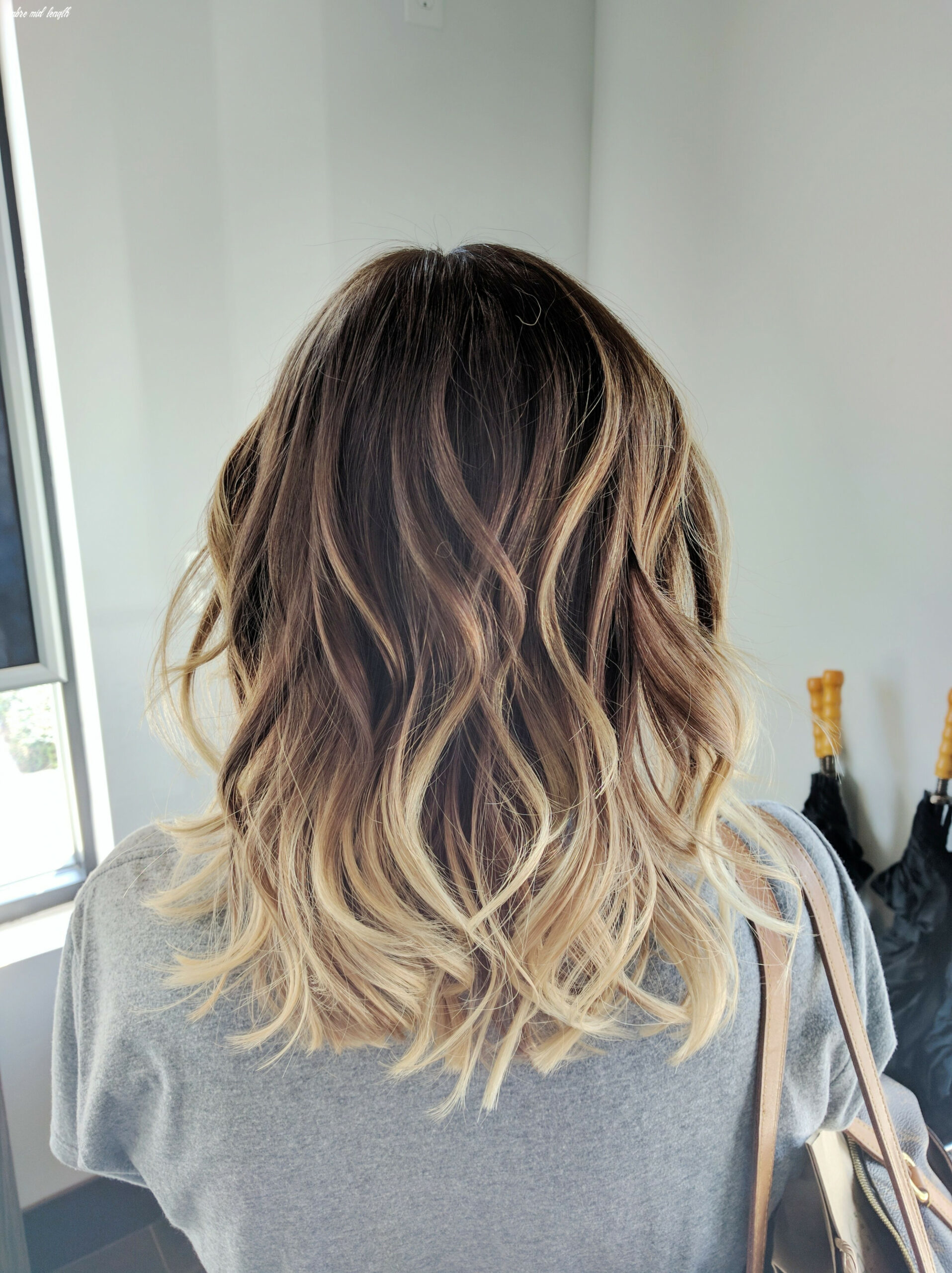 Pin on hair ombre mid length