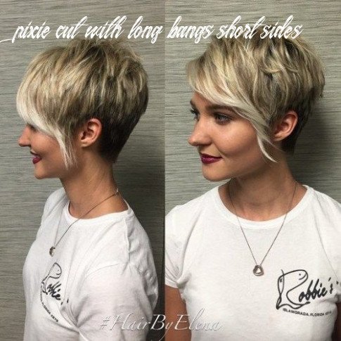 Pin on hair pixie cut with long bangs short sides