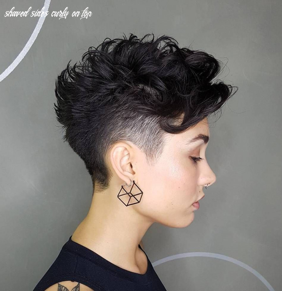Pin on hair shaved sides curly on top