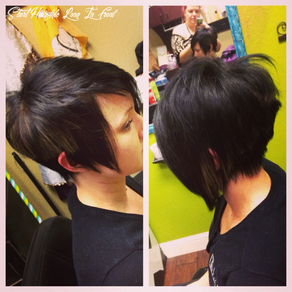 Pin on hair short hairstyle long in front