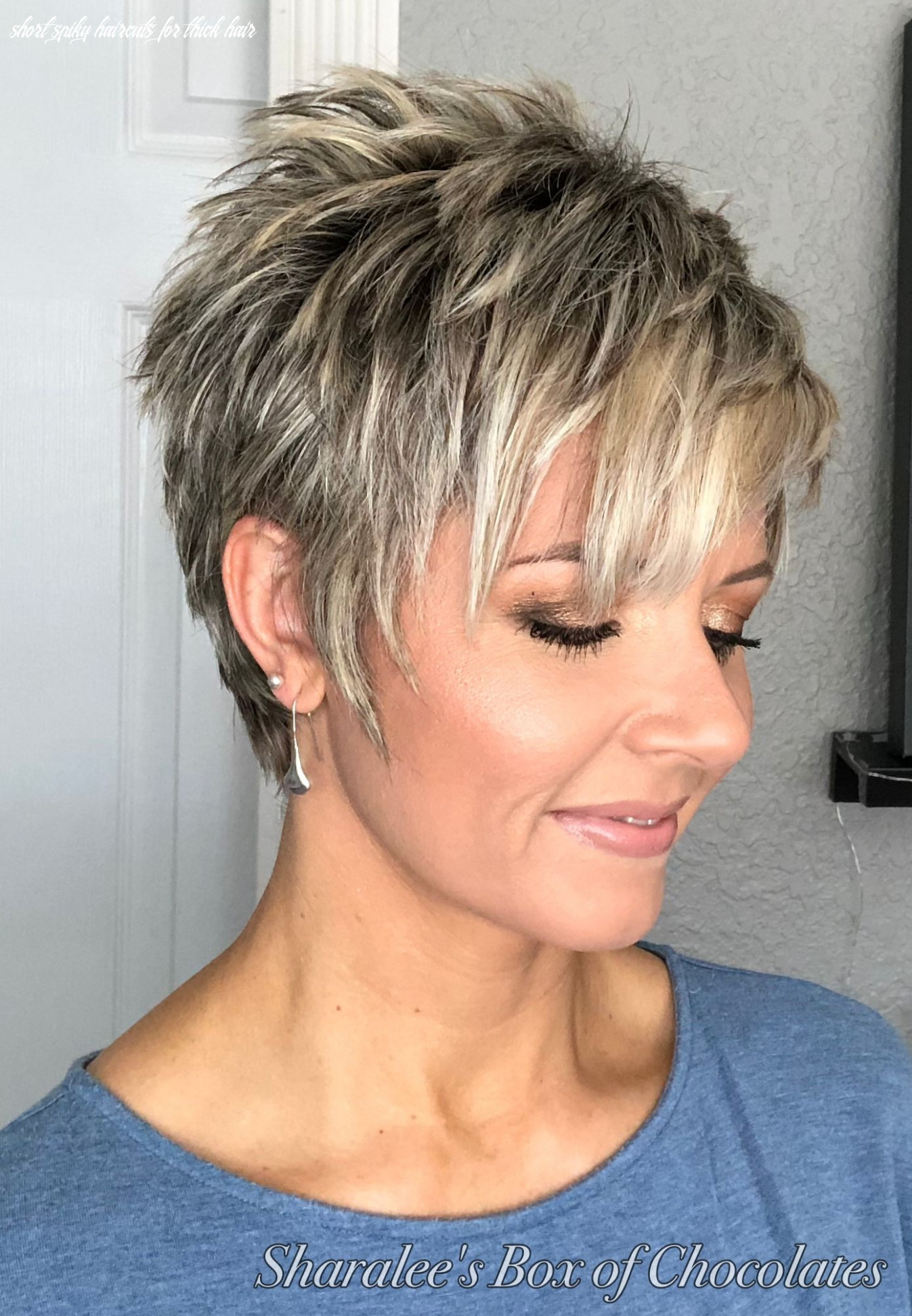 Pin on hair short spiky haircuts for thick hair