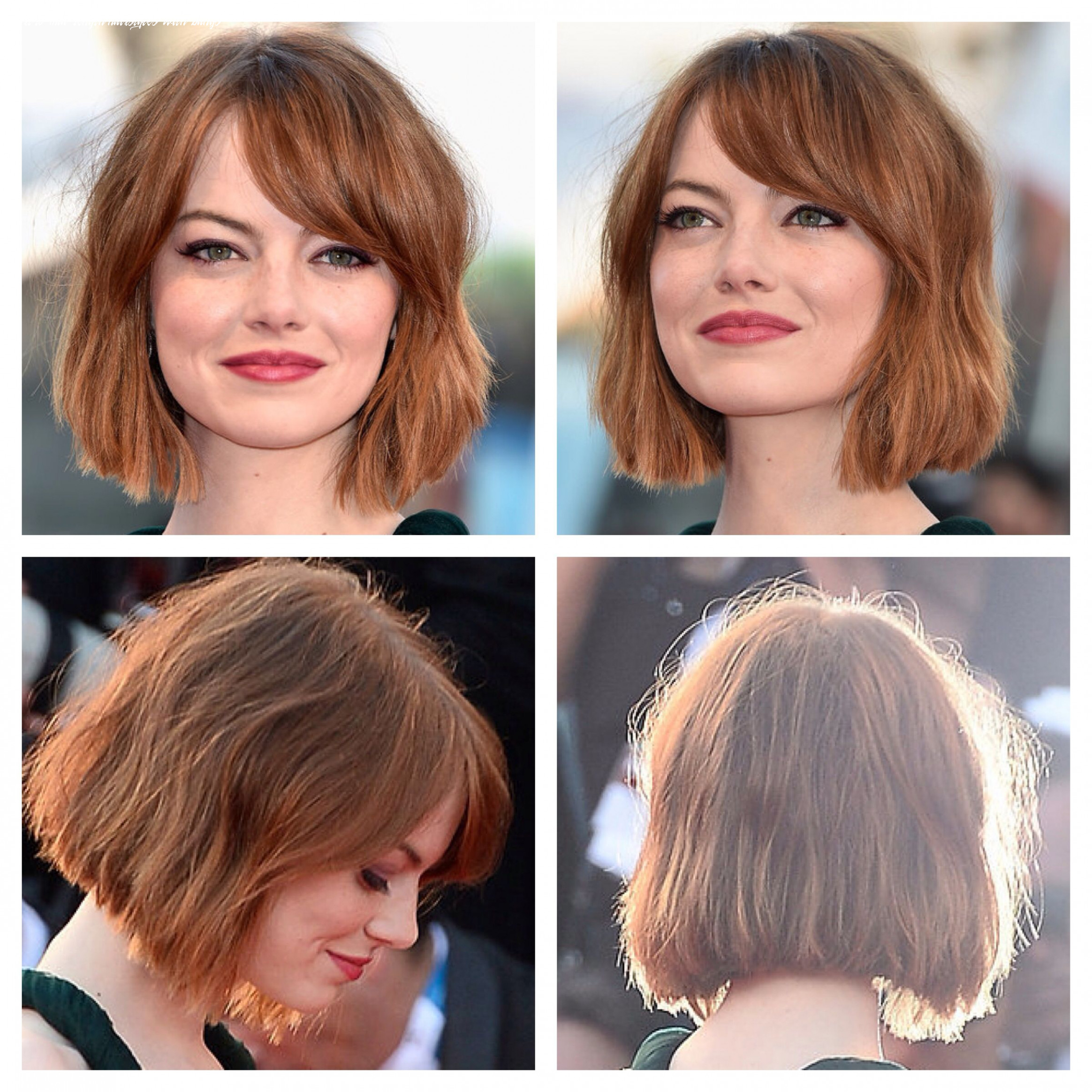 Pin on hair short to mid length hairstyles with bangs