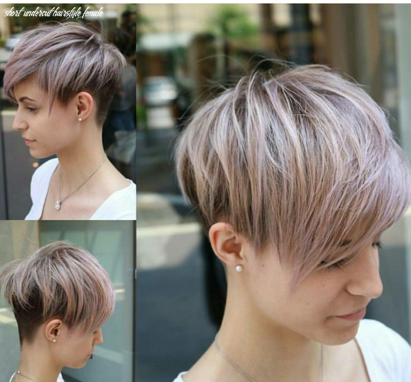 Pin on hair short undercut hairstyle female