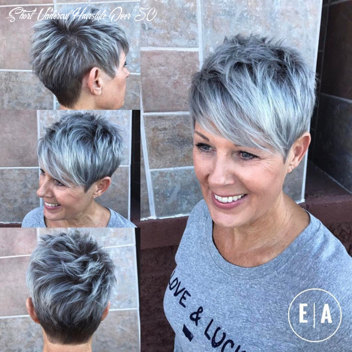 Pin on hair short undercut hairstyle over 50