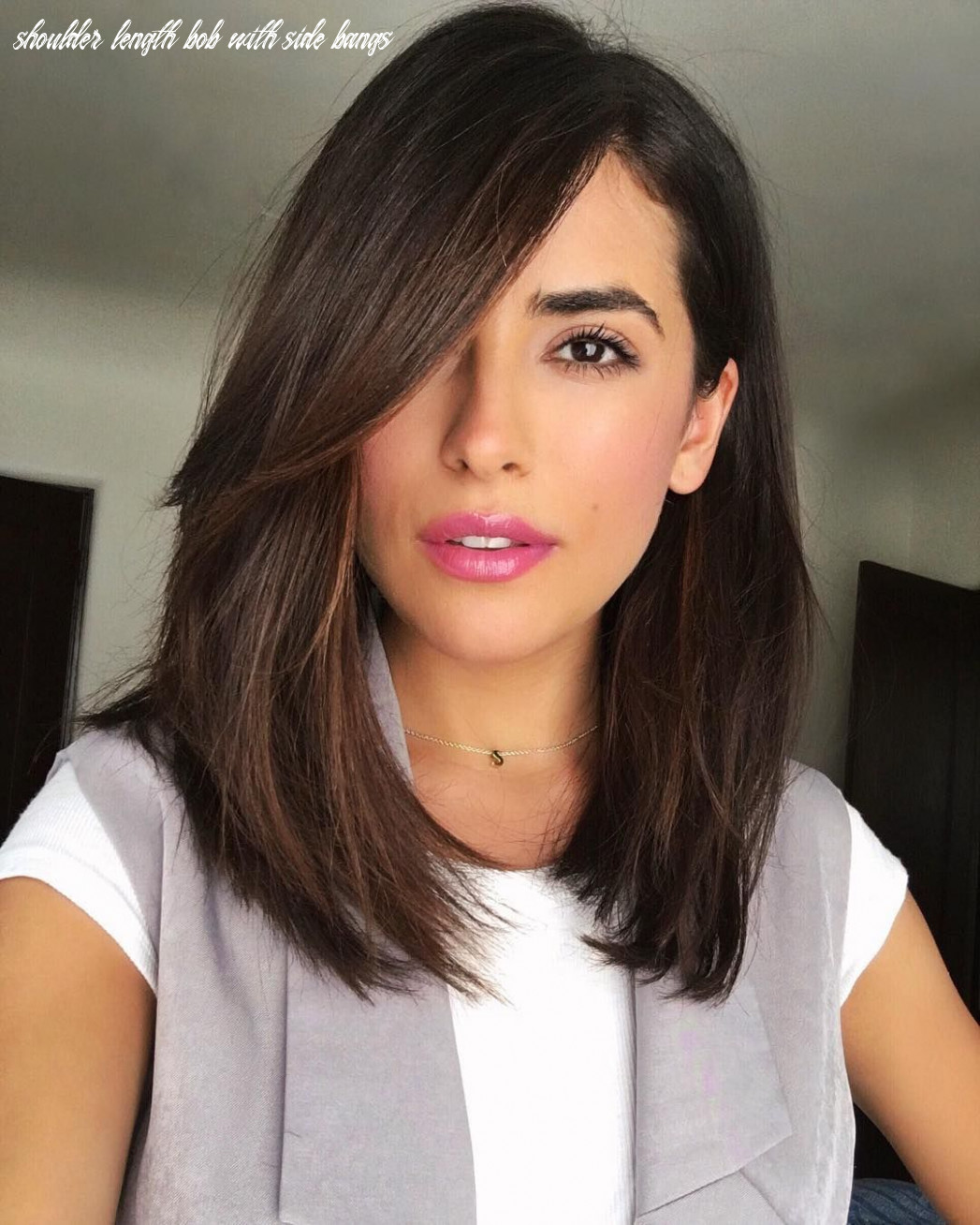 Pin on hair shoulder length bob with side bangs