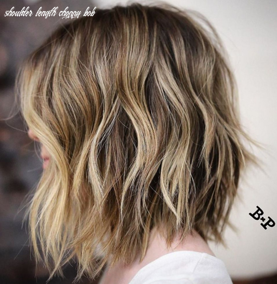 Pin on hair shoulder length choppy bob