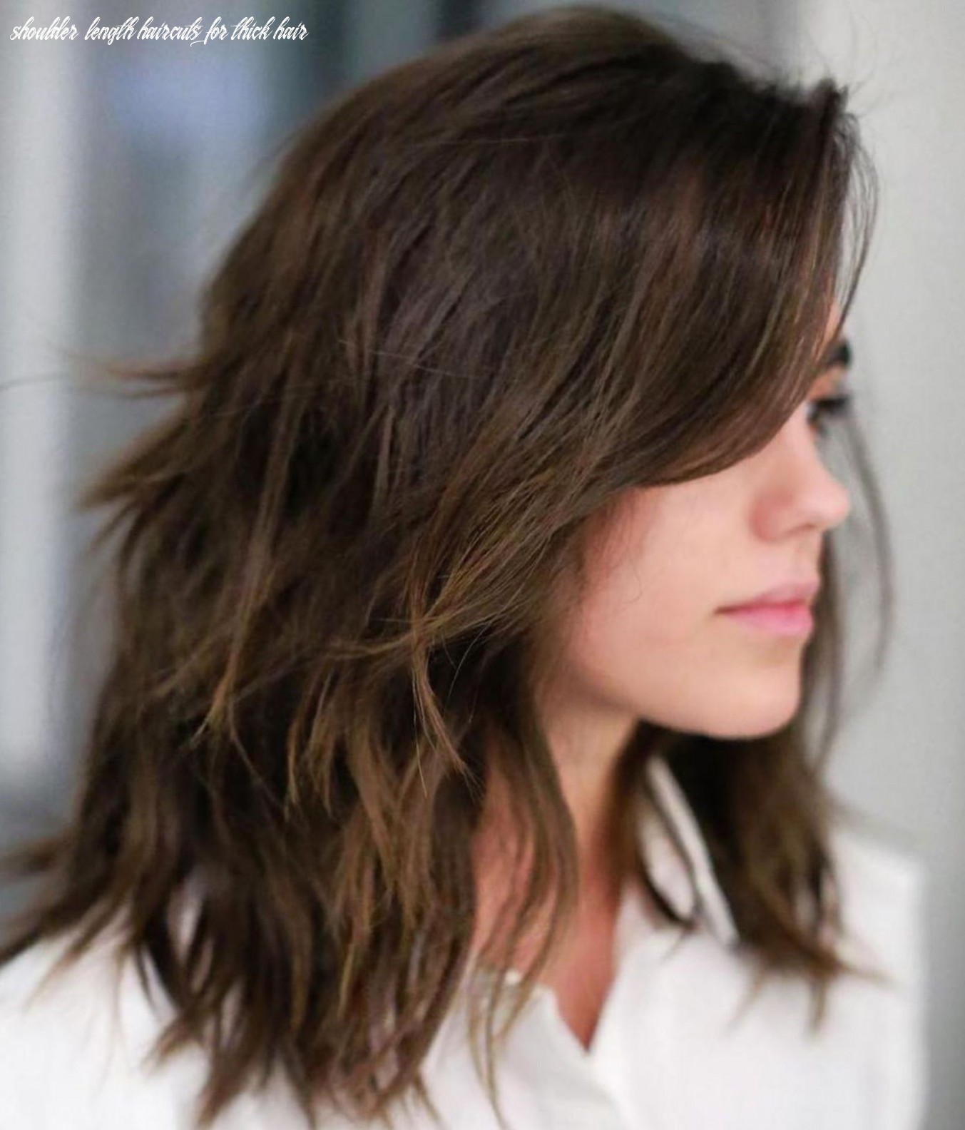 Pin on hair shoulder length haircuts for thick hair