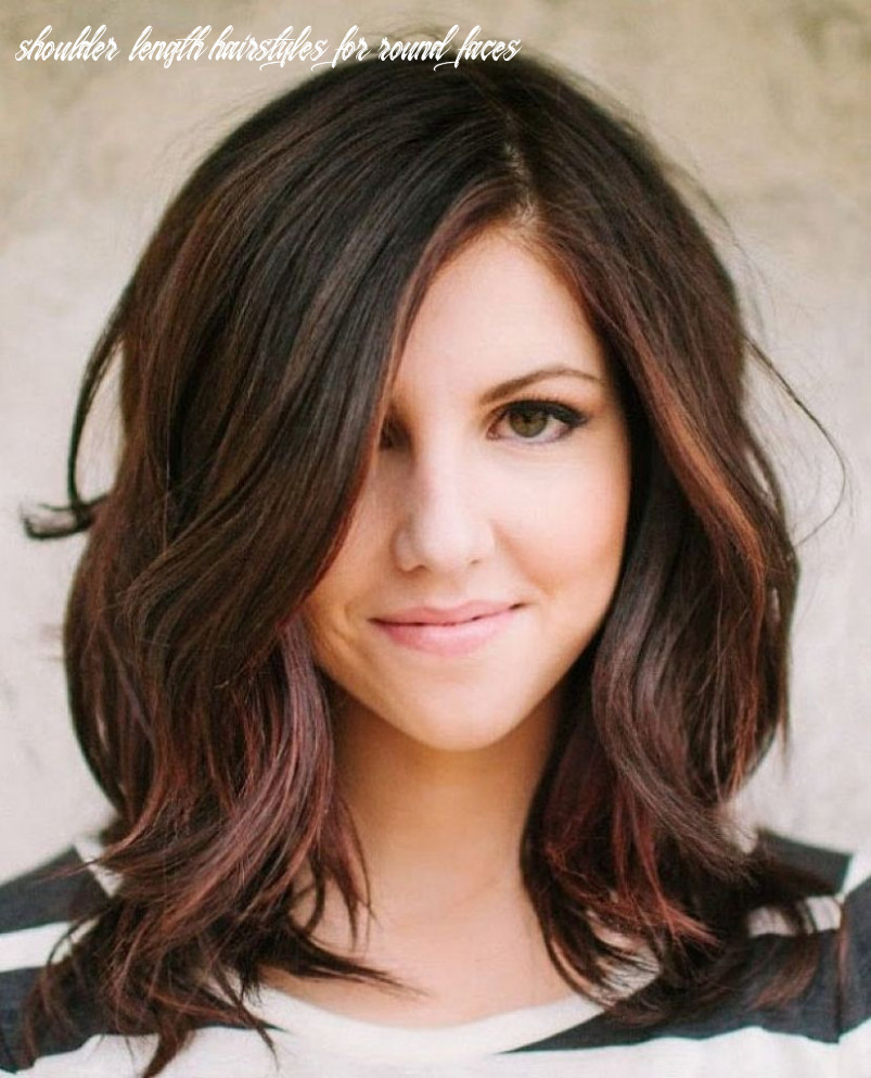 Pin on hair shoulder length hairstyles for round faces