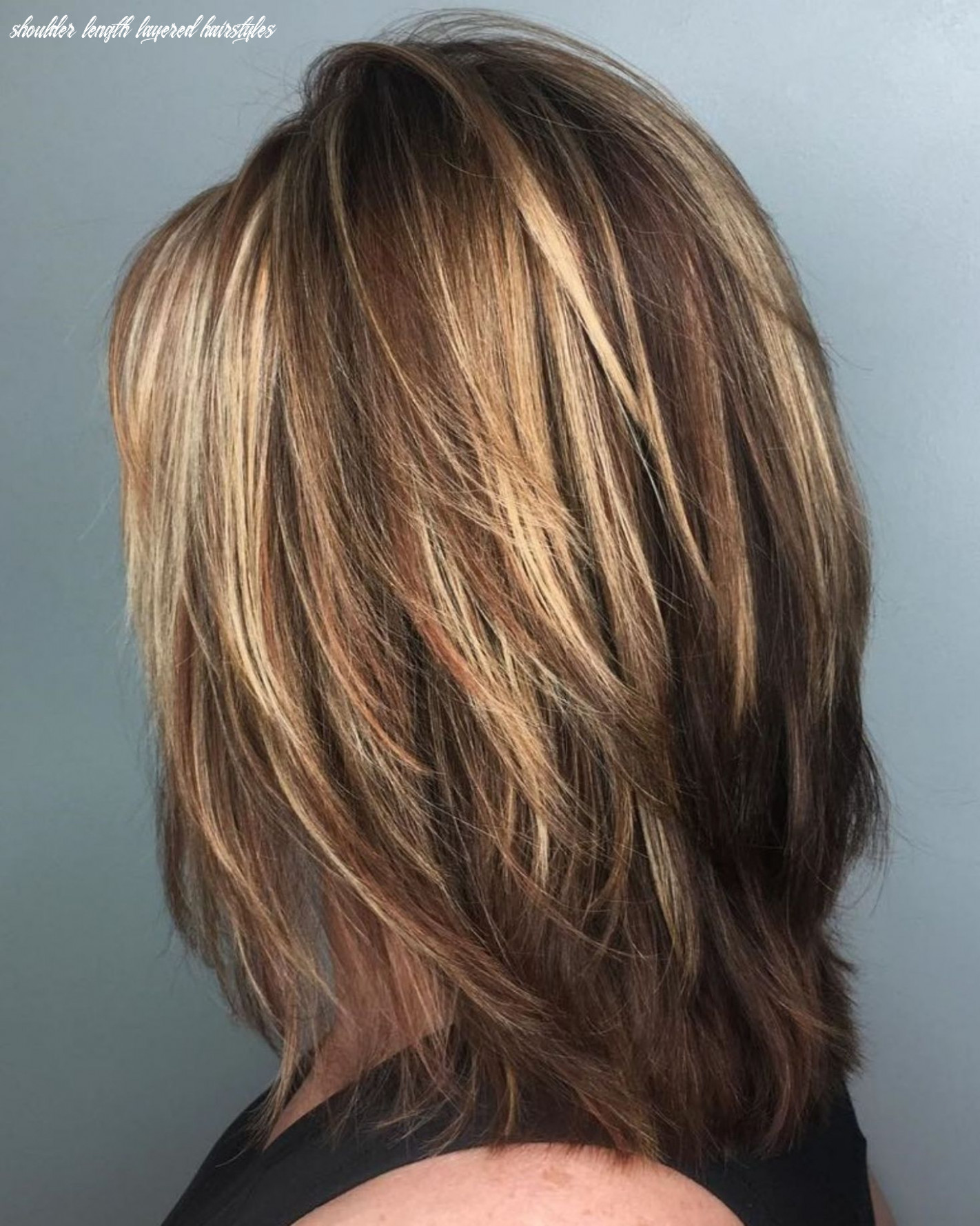 Pin on hair shoulder length layered hairstyles