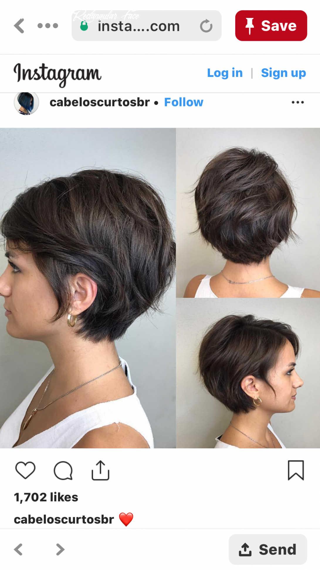 Pin on hair style short hairstyle rectangular face
