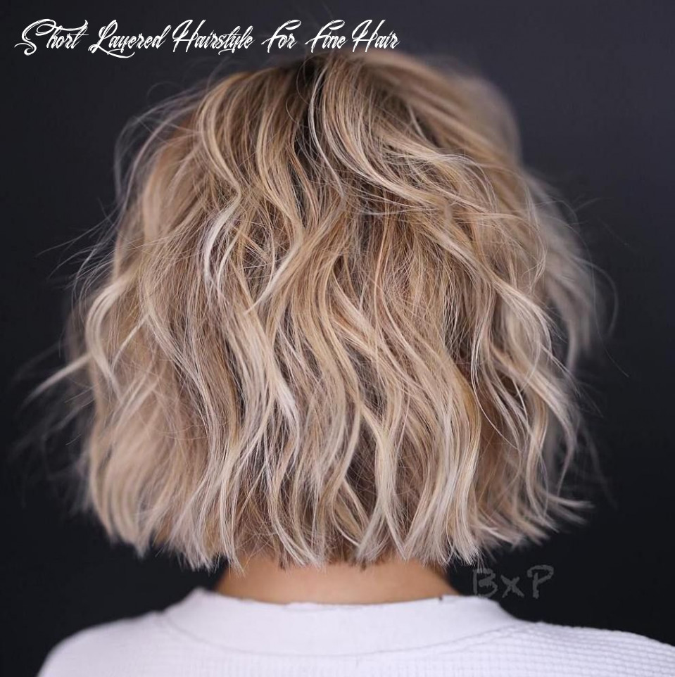 Pin on hair/style short layered hairstyle for fine hair