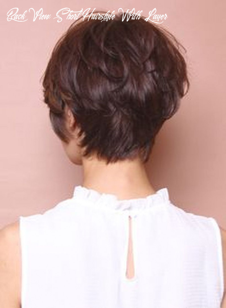 Pin on hair styles and color i like back view short hairstyle with layer
