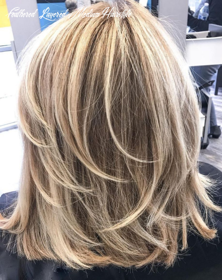 Pin on hair styles feathered layered medium hairstyle