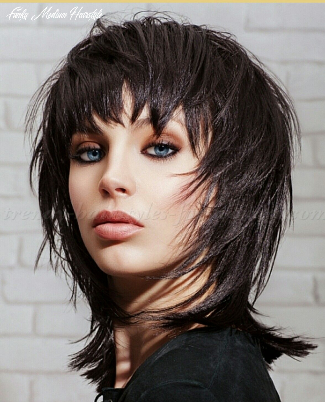 Pin on hair styles for me funky medium hairstyle
