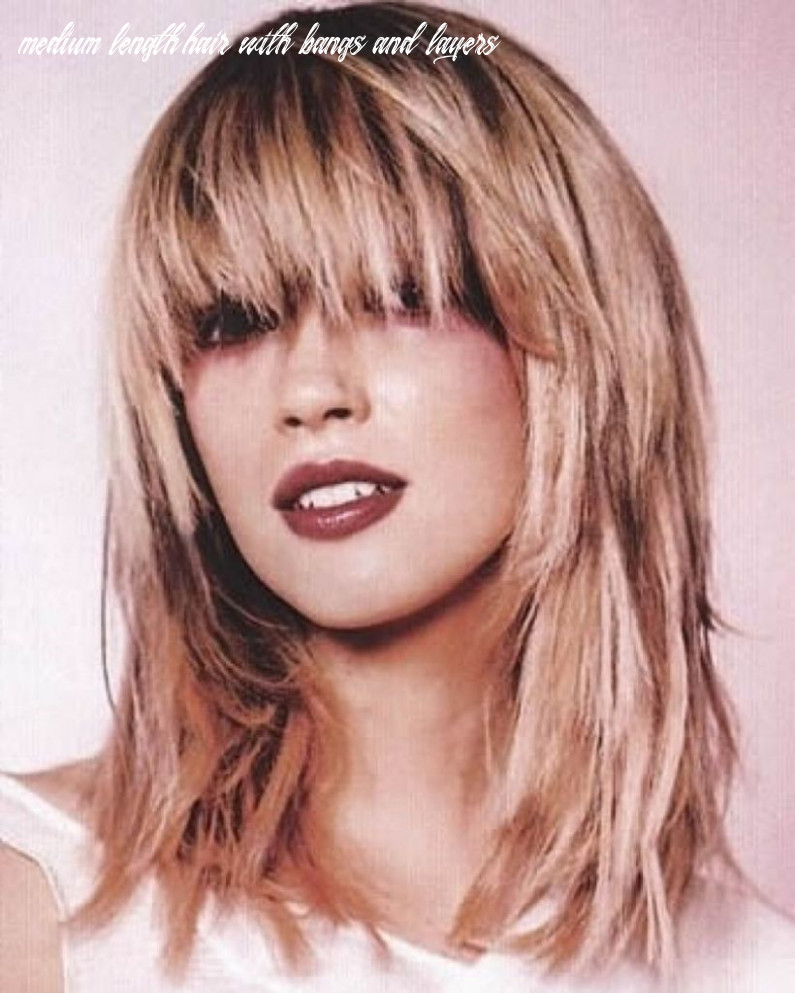 Pin on hair styles medium length hair with bangs and layers