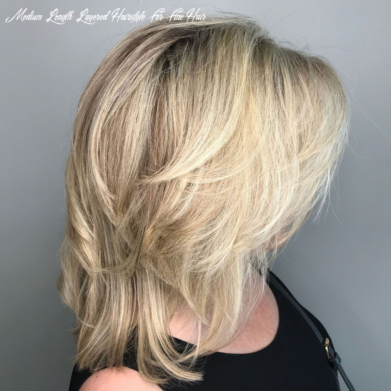 Pin on hair styles medium length layered hairstyle for fine hair