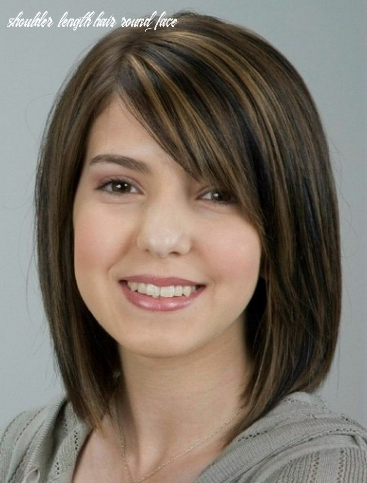 Pin on hair styles shoulder length hair round face